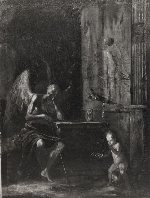 Allegory of time and vanitas, XVII century. Federico Zeri Foundation