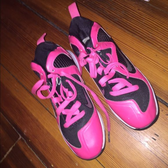 Pink lebrons  Size 3 no insoles , okay condition i bought off someone and never wore a little paint chipping but still look nice . Nike Shoes Sneakers