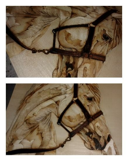 Realistic horse marquetry is from Timi.