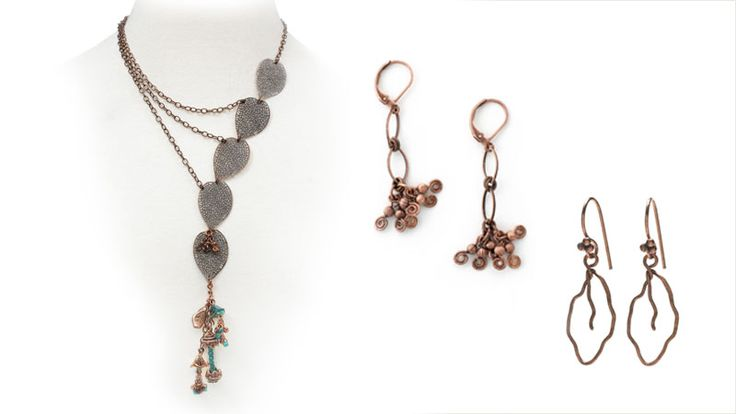 Cluster an assortment of flower dangles and beads in an asymmetrical necklace