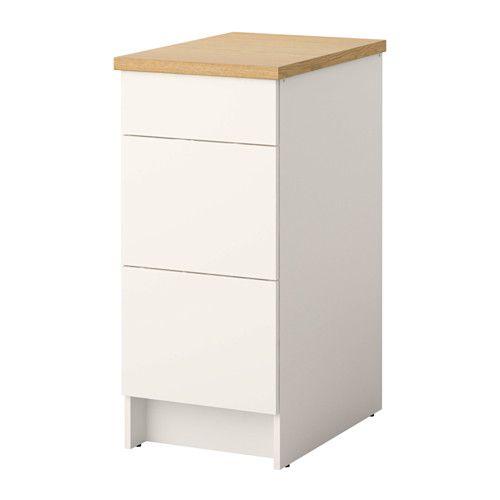 Knoxhult l ment bas avec tiroirs ikea les pieds r glables assurent la stabil - Ikea pieds reglables ...