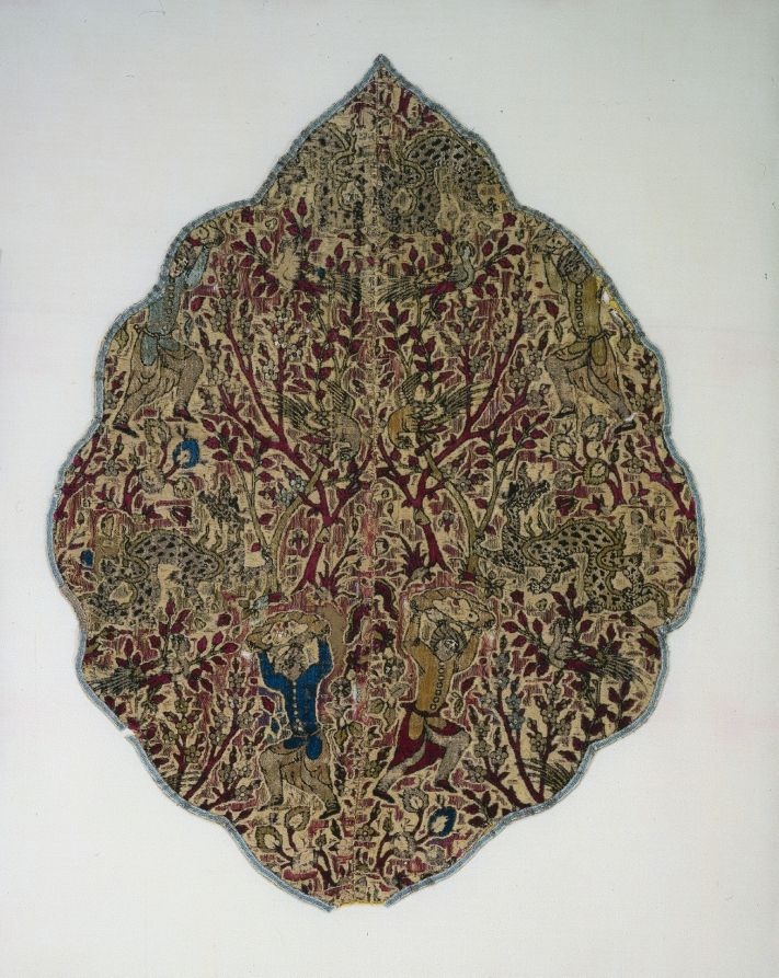 War Booty: Velvet Tent Panel of a Dragon Slayer, 1524-1576  Iran, Yazd[?], reign of Shah Tahmasp, Safavid period (1501-1736)