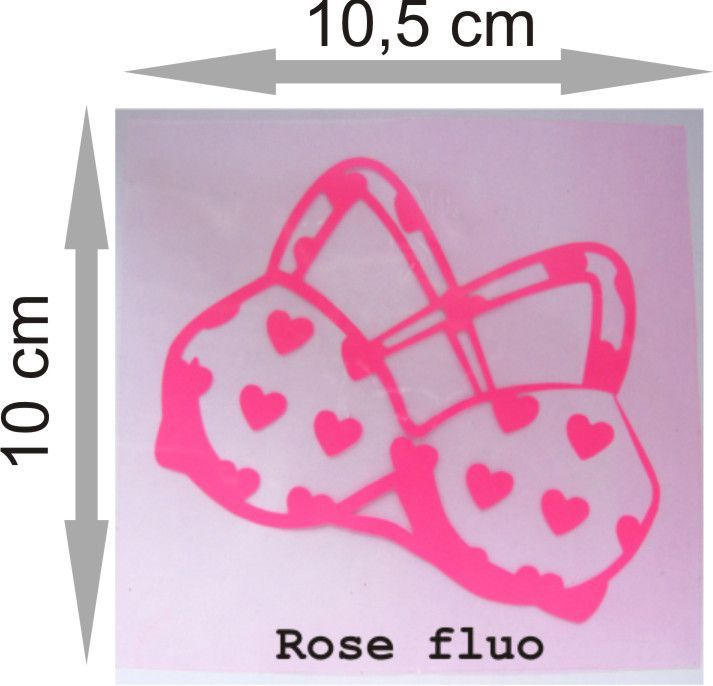 Transfert soutien gorge rose fluo thermocollant : Déco, Customisation Textile par printup