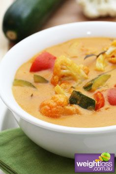 Vegetable Thai Red Curry. #HealthyRecipes #DietRecipes #WeightLossRecipes weightloss.com.au