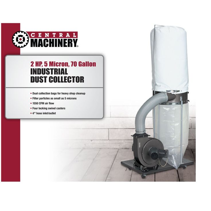 2 HP Industrial 5 Micron Dust Collector