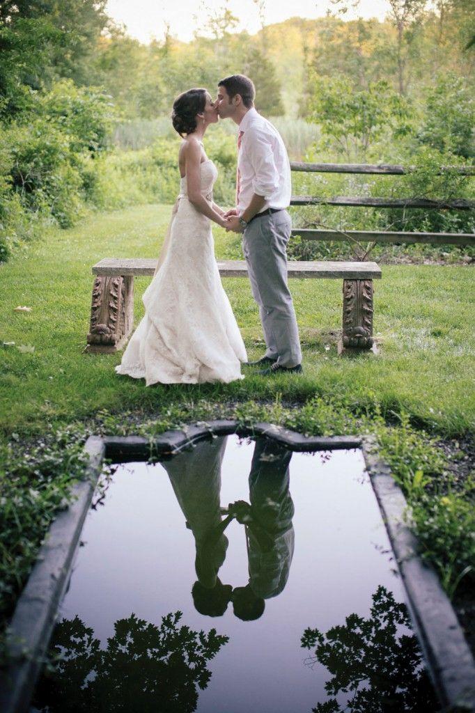 DIY rustic summer garden real wedding at