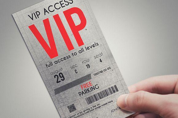 Stylish VIP PASS template by Tzochko on Creative Market