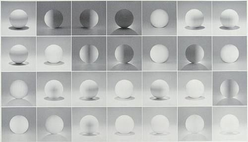 Sol LeWitt - A Sphere Lit From The Top, Four Sides, and All Their Combinations