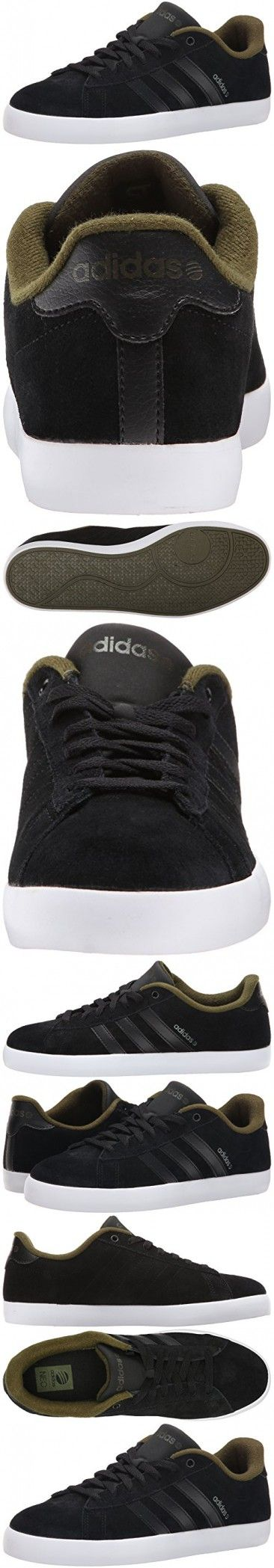 Adidas NEO Men's Derby ST Fashion Sneaker, Black/Black/Dust Green, 8.5 M US