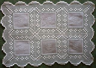 crochet em revista: Pano de tabuleiro pronto