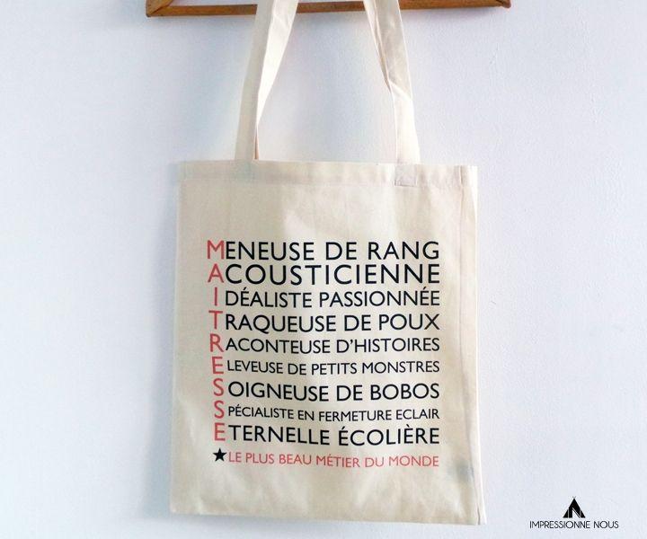 Le produit Tote-bag Maîtresse est vendu par Impressionne nous dans notre boutique Tictail.  Tictail vous permet de créer gratuitement en ligne un shop de toute beauté sur tictail.com