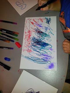 Kreativa barn: Whiteboard på kakel