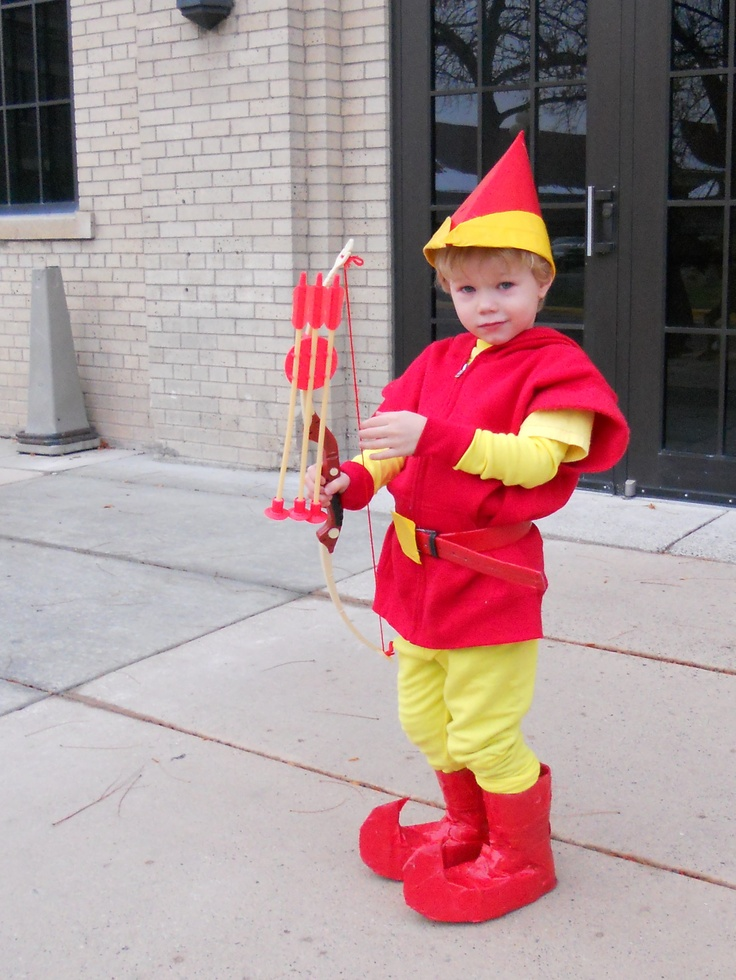 Fire Elf costume.  (fire elves are characters from the game Wizard 101)