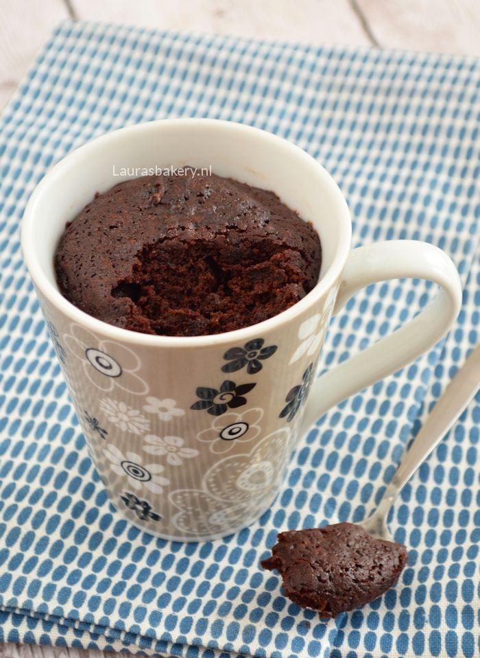 Chocolate mug cake - Chocolade mug cake - Laura's Bakery