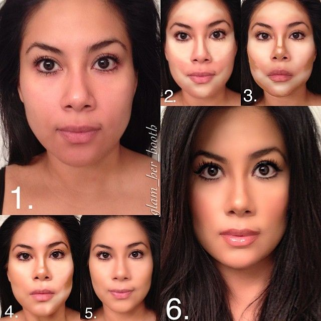 Hello ladies. Just a quick contour I did on myself earlier today (took pictures with iPhone so please excuse the quality). I will post steps and products tomorrow. Goodnight  - @glam_her_booth- #webstagram