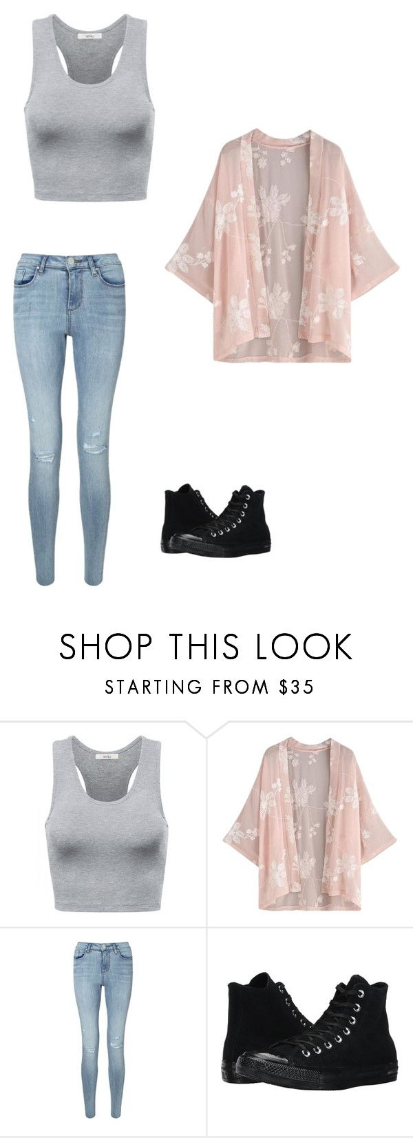 """Untitled #464"" by austynh on Polyvore featuring Miss Selfridge and Converse"