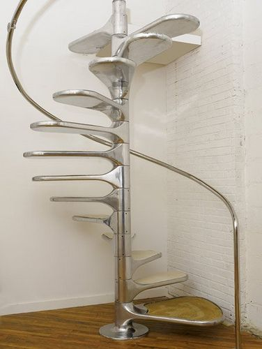 Spiral staircase by french industrial designer roger tallon 1964