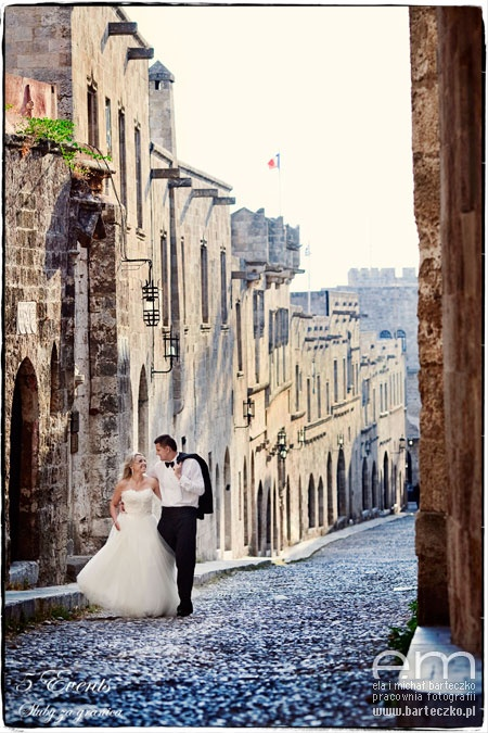 Rhodes Old Town, wedding in Greece, www.barteczko.pl