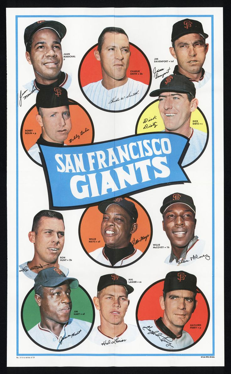 Vintage SF Giants Poster