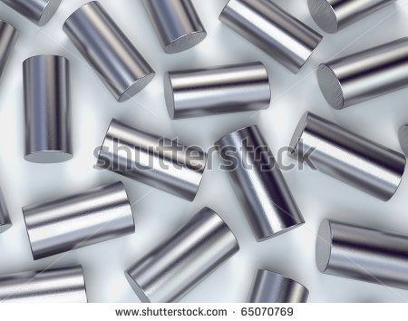 Metal cylinder abstract background - stock photo