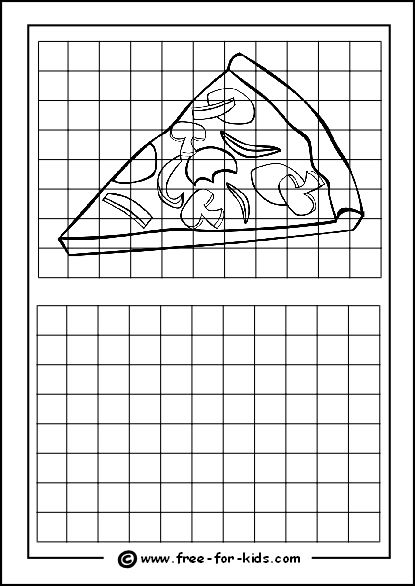 Practice Drawing Grid with Slice of Pizza