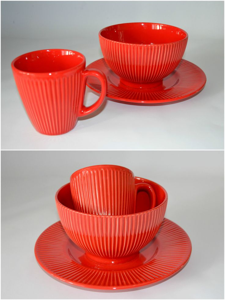 Scarlet - набор посуды для завтрака на 1 персону. ЧАШКА + ПИАЛА + ДЕСЕРТНАЯ ТАРЕЛКА. Глазурованная керамика. Подходит для микроволновой печи и для посудомоечной машины.  --  Цена 320 грн.  --  #красиваяпосуда #посуд #посуда #керамика #ceramics #pottery #polishpottery   ceramic tableware   pottery   polish pottery   посуда   керамическая посуда   польская керамика    польская посуда   керамика   красивая посуда   наборы для завтрака