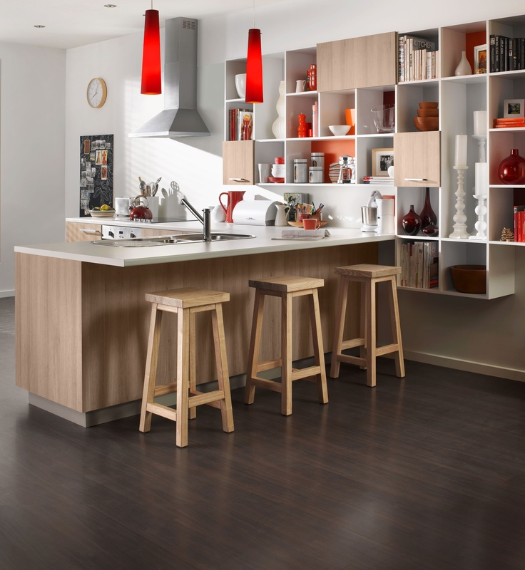 Cool kitchen with ample storage