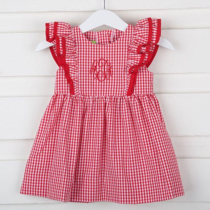 Red Gingham Ruffle Dress