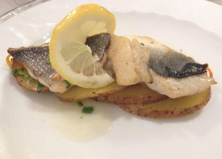 Pescato del giorno su letto di patate ai sentori di agrumi CALA MORESCA****-Anima Mediterranea