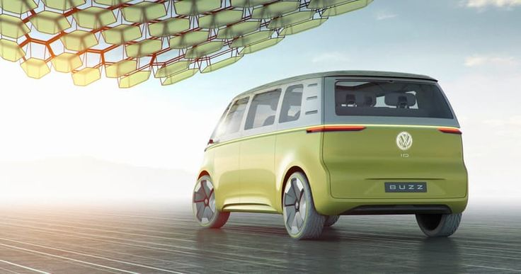 Volkswagen I.D. Buzz: rear view - mirrors are replaced with an e-mirror camera system
