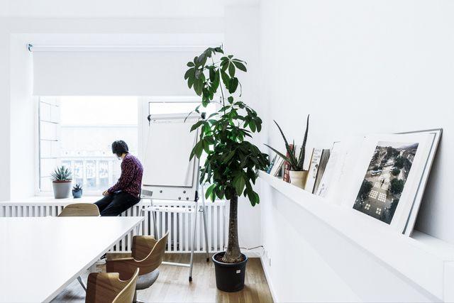 Des bureaux à la décoration sobre #deco #bureau #bureaux_marseille