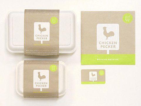 Chicken Pecker package design via ffffound/lovely package