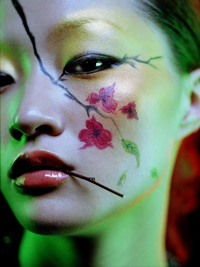 Beauty work by Remi Rebillard: Cherries Blossoms, Fantasy Makeup, Faces Art, Facepaint Sexy, Faces Paintings, Flower Trees, Flower Power, Remy Rebillard, Beauty