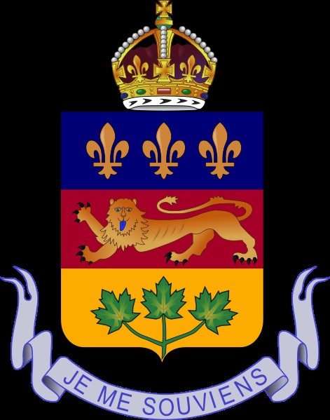 Coat of Arms of Quebec.