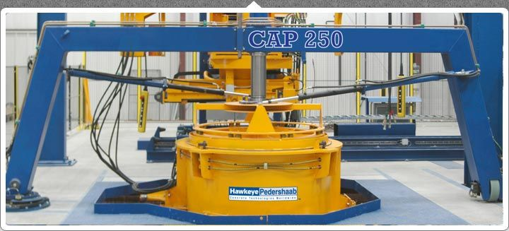 Features & Benefits of CAP-250 Machinehttp://www.ahct.in/cap-250/  1) VIHY Core Vibration 2) VIHY Table Vibration 3) Semi-Automatic Operation with laser-level fill control 4) Quick-Mold Change System 5) Optional Header System 6) 1 or 2 Station Arrangement 7) Turnover System for Slabs and Bases 8) Optimal for Lined Pipe 9) Adjustable Box Culvert Molds 10) Automatic filling of box culverts 11) Optional Double Set of Outer Molds for Increased Production