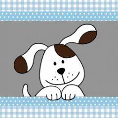 geboortekaartje vierluik hond jongen 231 JippieJIppie