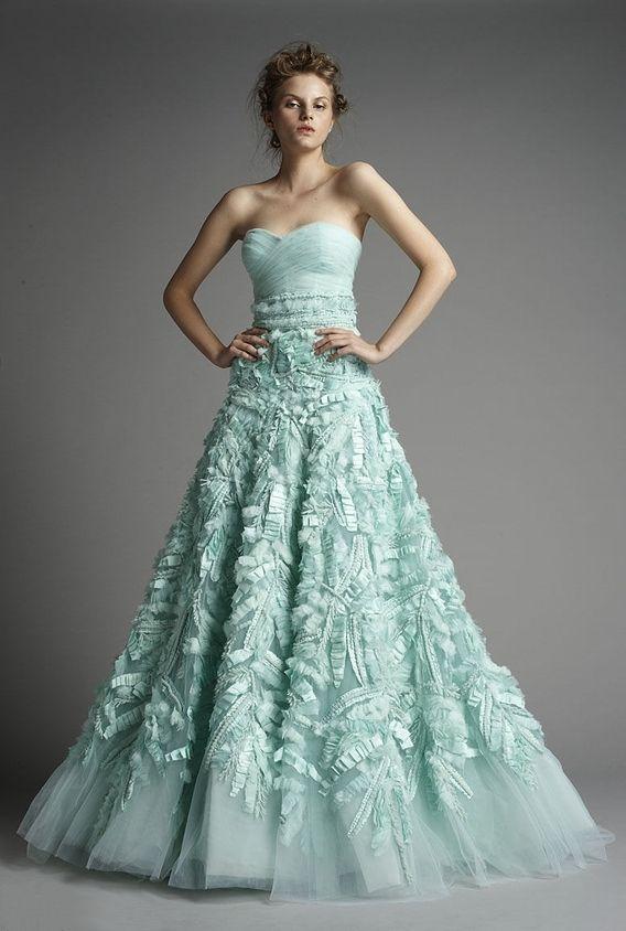 Zuhair Murad aqua gown