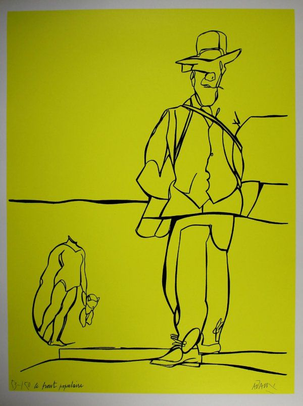 Le front populaire - Valerio Adami prints http://www.printed-editions.com/art-print/valerio-adami-le-front-populaire-57925