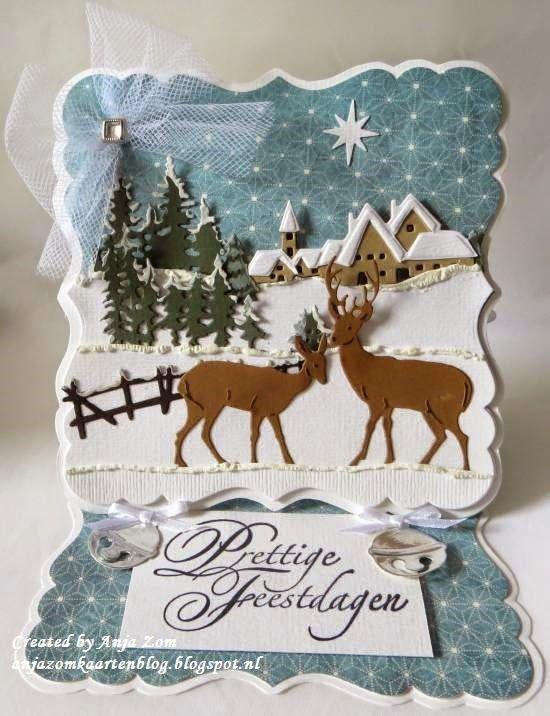 Anja Zom kaartenblog: Kerstkaart voor de demo!