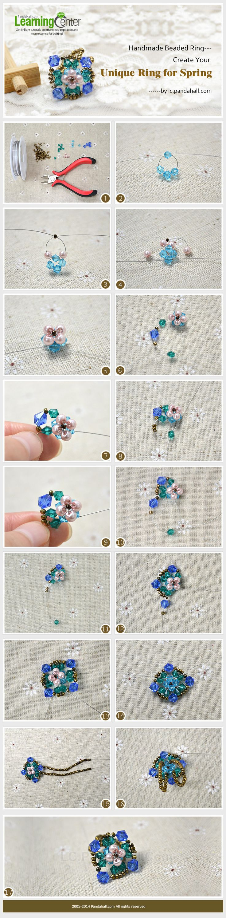 Handmade Beaded Ring---Create Your Unique Ring for Spring