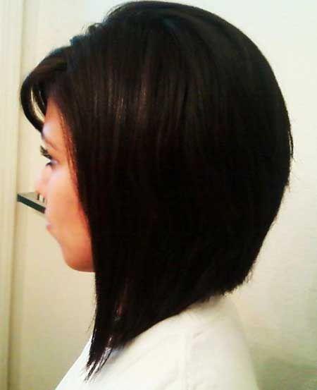 medium angled bob haircuts with side swept bangs - Google Search