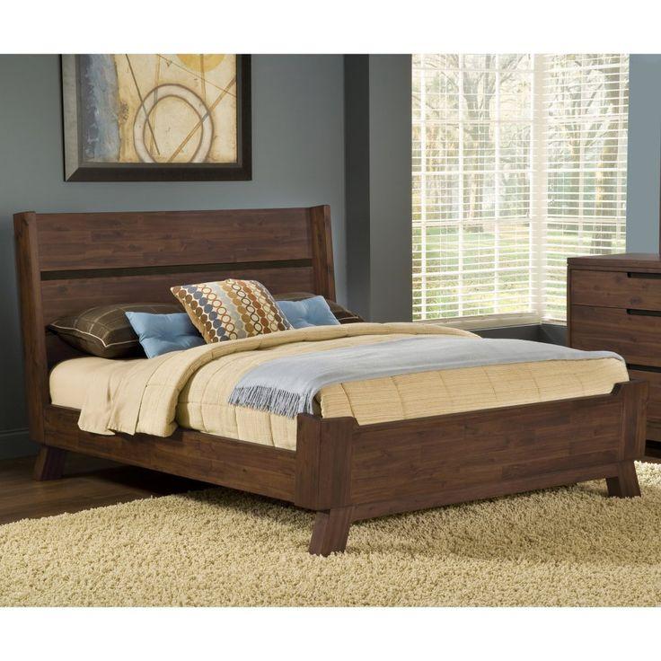 portland solid wood platform bed platform beds at hayneedle - Solid Wood Queen Bed Frame
