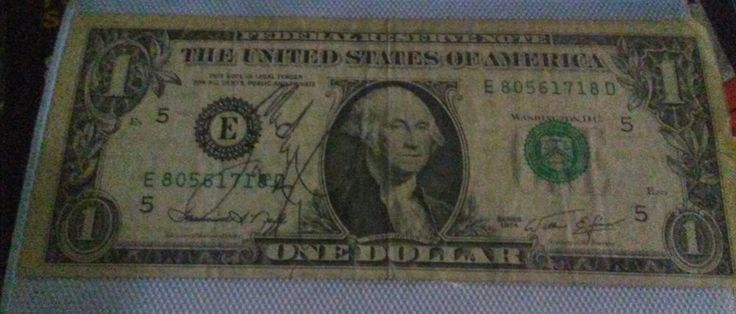 MICHAEL JACKSON AUTOGRAPHED 1974 $1 DOLLAR BILL No Reserve Starting at .99