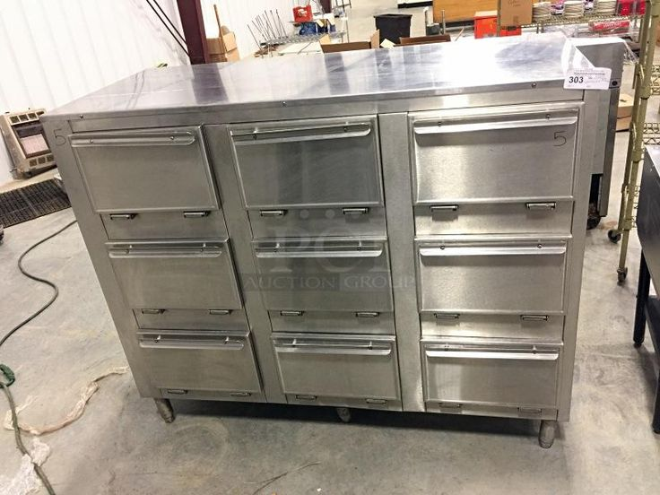 "Duke 2309P Thermotainer 9 Compartment Pass-Thru Hot Food Storage Unit, 100-300°F, (3) 12x20x2"" Pans Per Compartment, Stainless Steel, On Casters Pics, Price & Location"