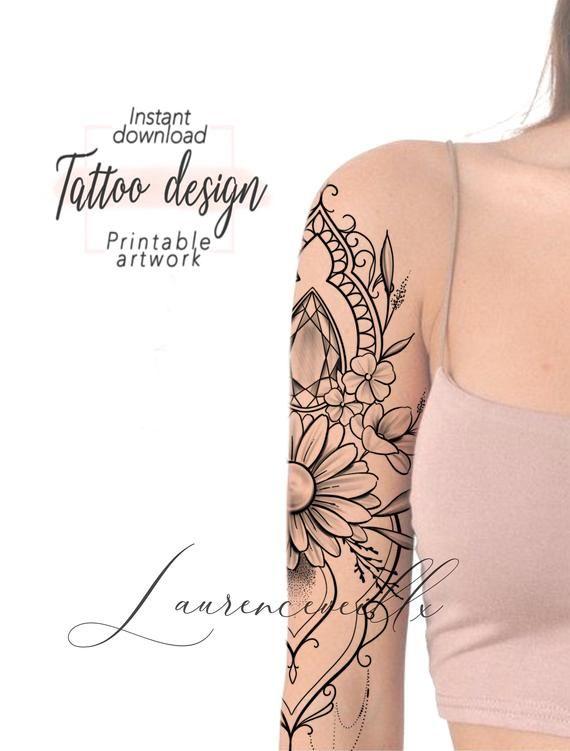 Printable Tattoo Design Instant Download Tattoo Design Etsy Printable Tattoos Tattoos Tattoo Designs
