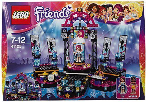 Lego - 41105 - Friends - La Scène de la Chanteuse - Jeu de Construction  Parrain LOANE (Anniversaire)