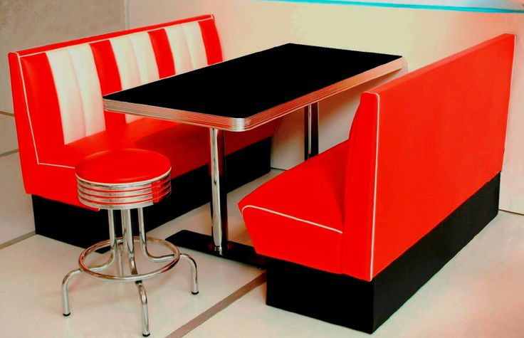 Retro Booths Diner Booths Bel Air 50s American Diner Booths Chairs from Wotever.co.uk