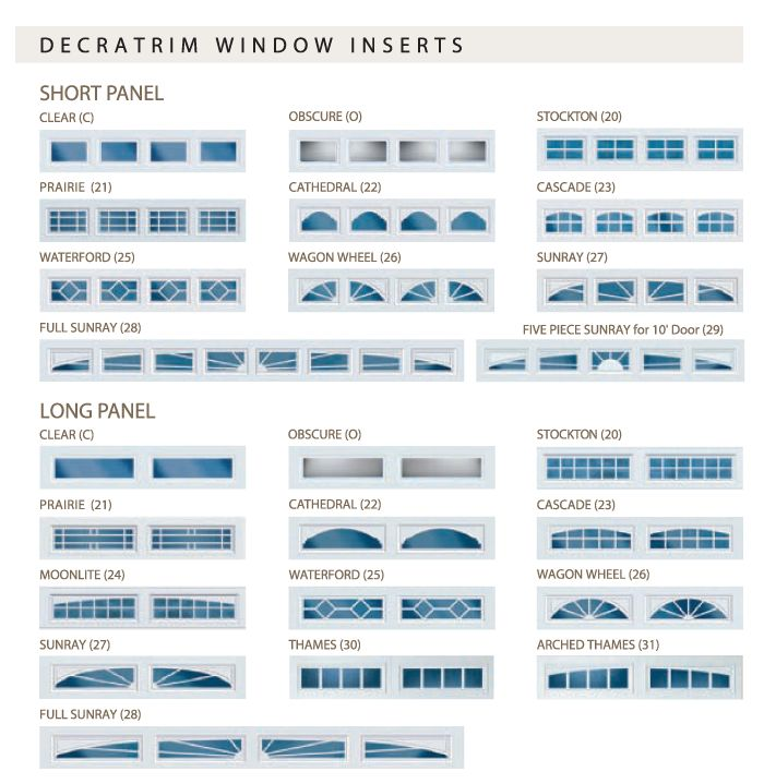 Feldco Garage Door Window Inserts