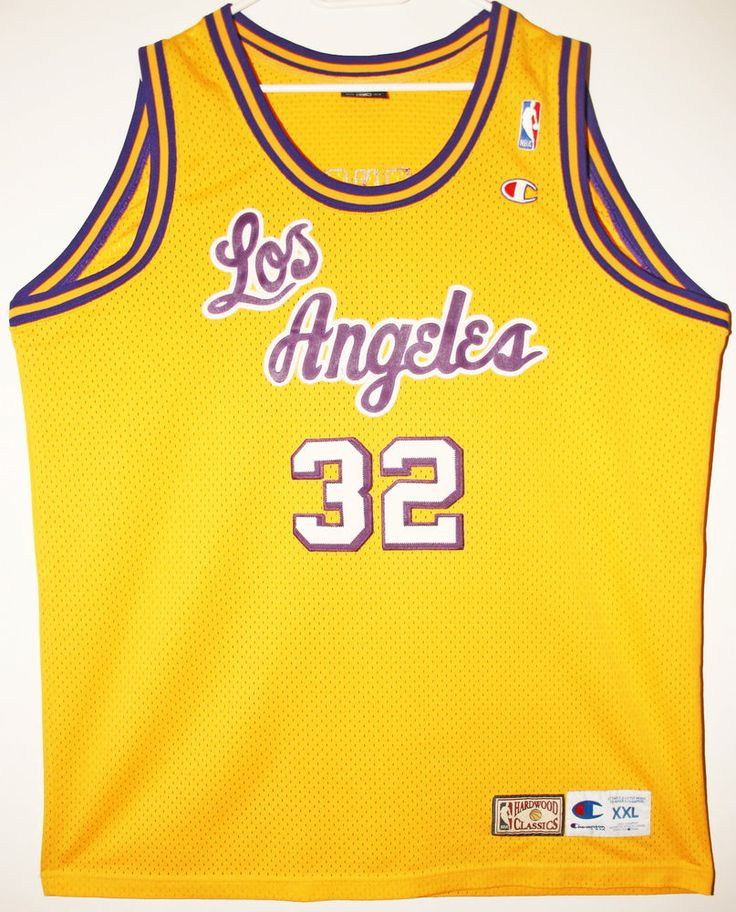 Champion NBA Basketball Los Angeles Lakers #32 Magic Johnson Trikot/Jersey Size 52 - Größe XXL - 89,90€ #nba #basketball #trikot #jersey #ebay #sport #fitness #fanartikel #merchandise #usa #america #fashion #mode #collectable #memorabilia #allbigeverything