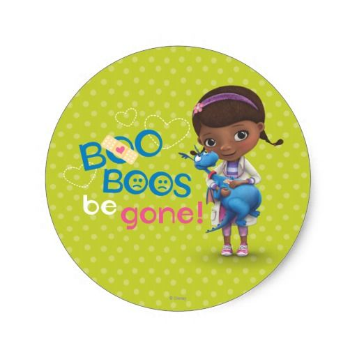Doc McStuffins and Stuffy - Boo Boos Be Gone. Regalos, Gifts. #sticker